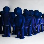moving II | blue's | ceramic, pigment |va 24 x 6 x 4,5 cm